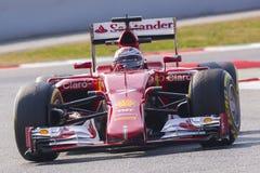 Motorista Kimi Raikkonen Team Ferrari Fotografia de Stock