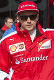 Motorista Kimi Raikkonen Team Ferrari Imagens de Stock
