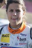 Motorista Laia Sanz Barcelona FIA World Rallycross Imagem de Stock