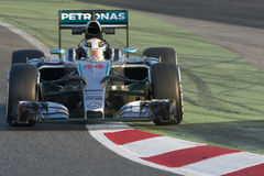 Motorista Lewis Hamilton Team Mercedes Petronas Imagem de Stock Royalty Free
