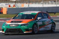 Motorista Manuel Giao SEAT LEON EUROCUP imagem de stock