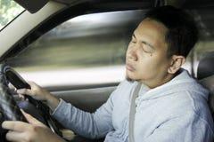 Motorista masculino cansado sonolento foto de stock royalty free