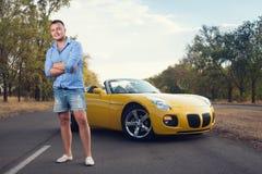 Motorista masculino na moda novo Imagens de Stock