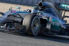 Motorista Niko Rosberg Team Mercedes Fotografia de Stock Royalty Free