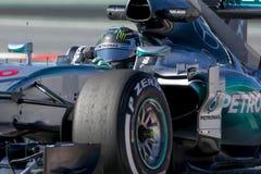 Motorista Niko Rosberg Team Mercedes Imagem de Stock Royalty Free