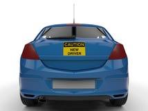 Motorista novo do cuidado - vista traseira ilustração do vetor
