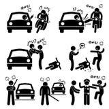 Motorista Rage Icons da intimidação da estrada Fotografia de Stock Royalty Free