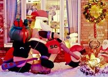 Motorista Santa fotografía de archivo libre de regalías