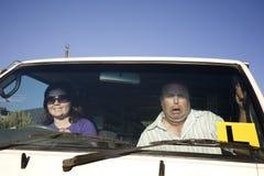 Motorista Scary Concept do principiantes fotografia de stock
