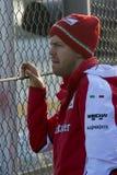 Motorista Sebastian Vettel Team Ferrari Imagem de Stock Royalty Free