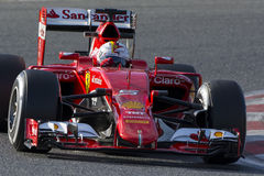 Motorista Sebastian Vettel Team Ferrari Fotos de Stock Royalty Free