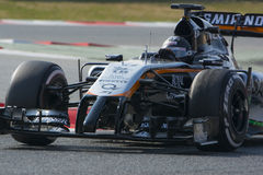 Motorista Sergio Perez Team Sahara Force India Imagens de Stock Royalty Free