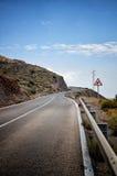 Motoristas de advertência do sinal de estrada Fotos de Stock