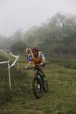 Motoristas de la raza de Ironbike Foto de archivo libre de regalías