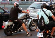 Motoristas en Barcelona Harley Days 2013 Fotos de archivo
