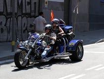 Motoristas en Barcelona Harley Days 2013 Foto de archivo libre de regalías