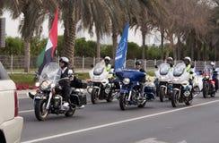 Motoristas en la paz marzo Fotos de archivo libres de regalías