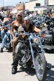 Motoristas en la reunión de la bici de Sturgis Imágenes de archivo libres de regalías