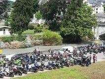 Motoristas en Lourdes Fotos de archivo libres de regalías