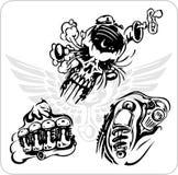 Motoristas loucos - ilustração Vinil-pronta do vetor. Imagem de Stock Royalty Free