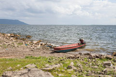 Motorized boats on the shore Royalty Free Stock Photos