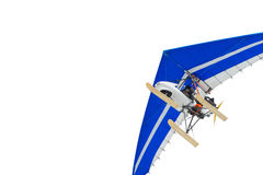 The motorized hang glider. Air sports Stock Photos