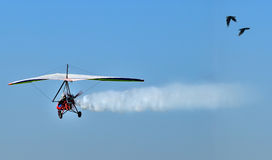 Motorized Hang Glider Royalty Free Stock Images