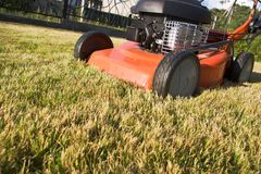 Motorized lawn-mower Royalty Free Stock Images