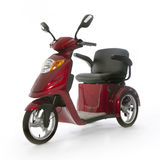Motorized mobility scooter fot elderly people Stock Image