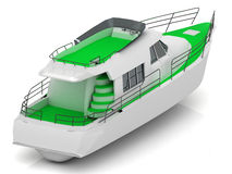 Boat with green walkways Royalty Free Stock Images