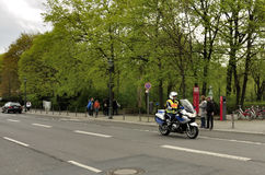 Motorized policeman Stock Photo