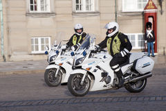 Motorized policemen Stock Photography
