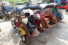 Motorized ricksaw Stock Photo