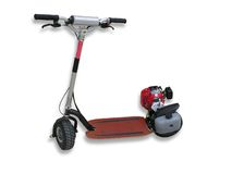 Motorized Scooter. A photo of a motorized scooter Royalty Free Stock Images