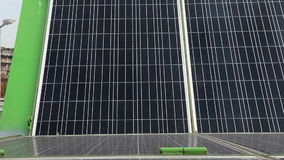 Motorized solar panels stock footage