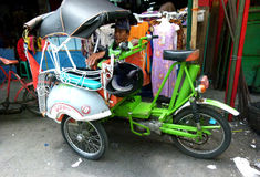Motorized tricycles. Used as a mode of transportation in Yogyakarta, Indonesia Stock Image