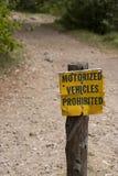 Motorized Vehicles Prohibited Royalty Free Stock Image
