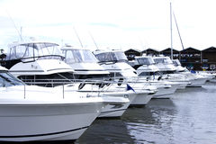 Motorized yachts St Kilda Royalty Free Stock Photography