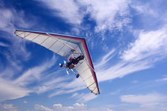 Motorizedr paraglider flying Royalty Free Stock Photography