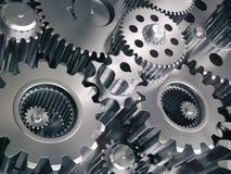 Motorkugghjulhjul och kugghjul industriell bakgrund Royaltyfri Bild