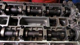 Motormotor zonder klepdekking stock videobeelden