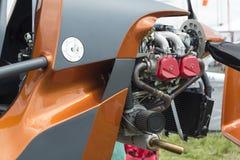 Motorn från motorn av flygplanet Royaltyfri Foto