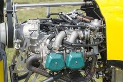 Motorn från motorn av flygplanet Fotografering för Bildbyråer