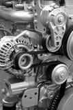Motoronderdelen en componenten Stock Afbeeldingen