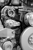 Motoronderdelen en componenten stock fotografie