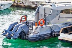 Motorowa łódź na Adriatic morzu, rozłam, Chorwacja Fotografia Royalty Free