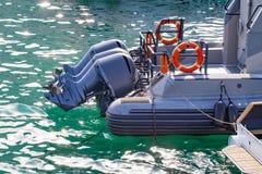 Motorowa łódź na Adriatic morzu, rozłam, Chorwacja Obrazy Stock