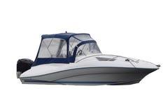 Motorowa łódź na białym tle Zdjęcia Royalty Free