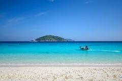 motorowa łódź w morzu Fotografia Royalty Free
