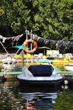 Motorowe łodzie dzierżawić Obrazy Royalty Free